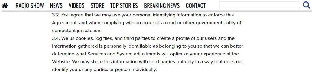 Infowars' Privacy